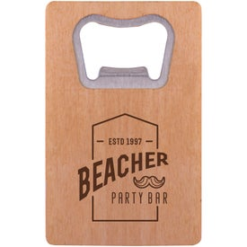Wood Credit Card Bottle Opener