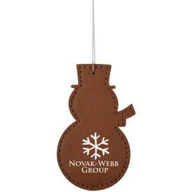 Leatherette Ornament (Snowman)