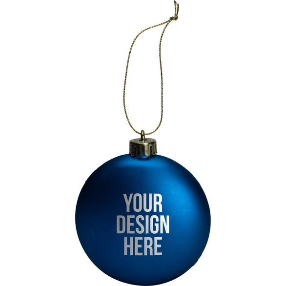 Blue Round Disk Ornament