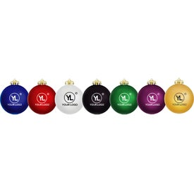 Satin Finished Round Shatterproof Ornament