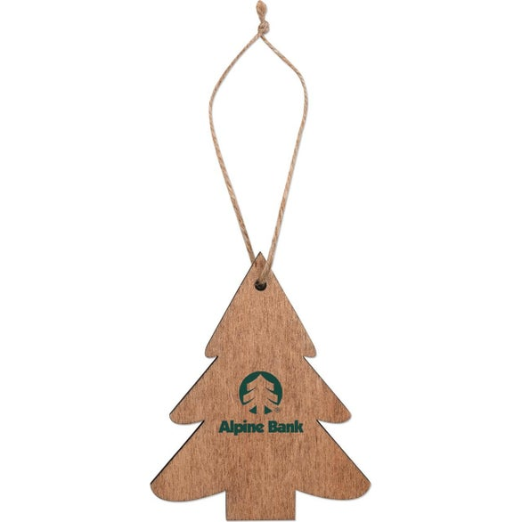Wood Wooden Tree Ornament