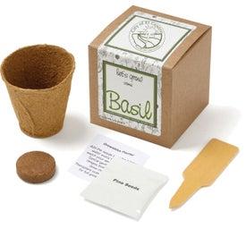 Basil Planter in Kraft Gift Box