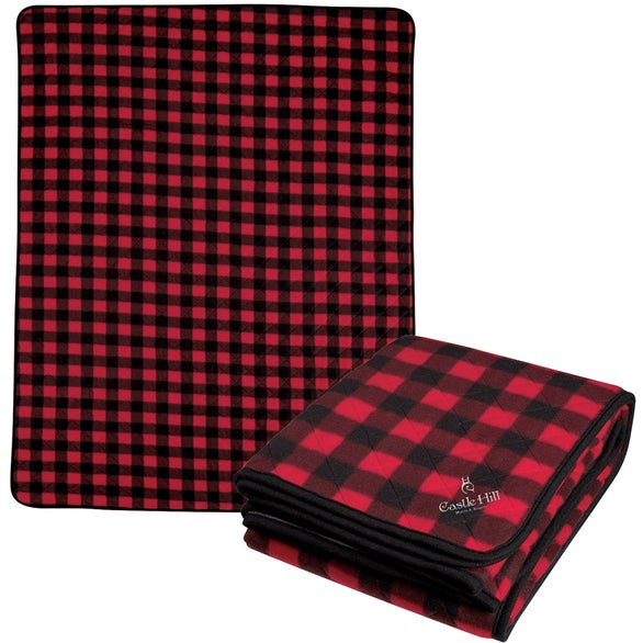 Black / Red Northwoods Plaid Blanket
