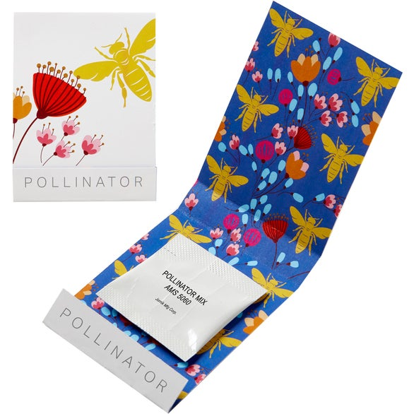 White Pollinator Seed Matchbook