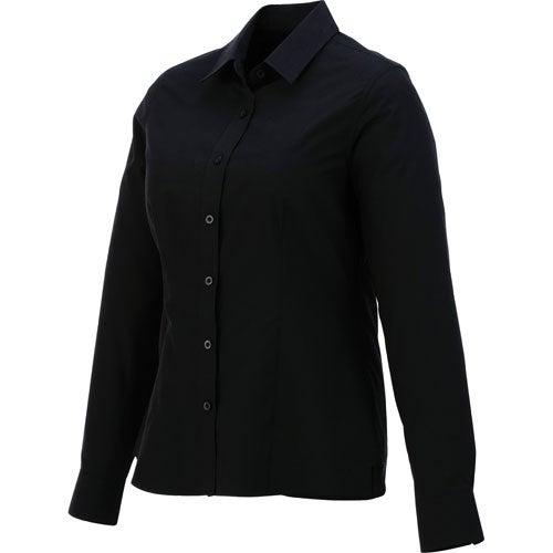 Black Preston Long Sleeve Shirt by TRIMARK