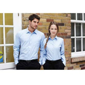 Sycamore Long Sleeve Shirt by TRIMARK Imprinted with Your Logo