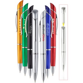 Allende Twist Plastic Pen with Highlighter