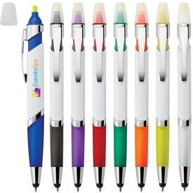 Cynthia Highlighter 3-In-1 Ballpoint Pen