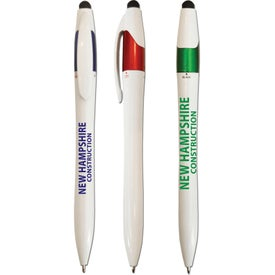 3-Color Twist Ballpoint Pens with Stylus