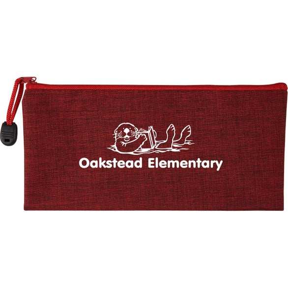 Red Heathered School Pouch