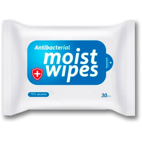 White / Blue Alcohol Wipes 30-Pack