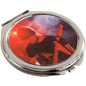 Compact Round Metal Mirror