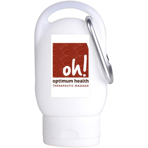 White Sunscreen SPF 30 with Carabiner