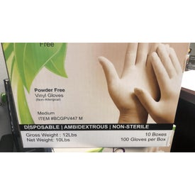 100 Count Medium Vinyl Gloves