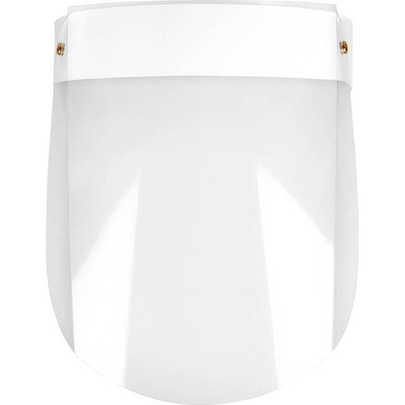 Clear / White Compact Plastic Face Shield