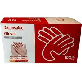 Disposable Vinyl Gloves Medium 100 Counts