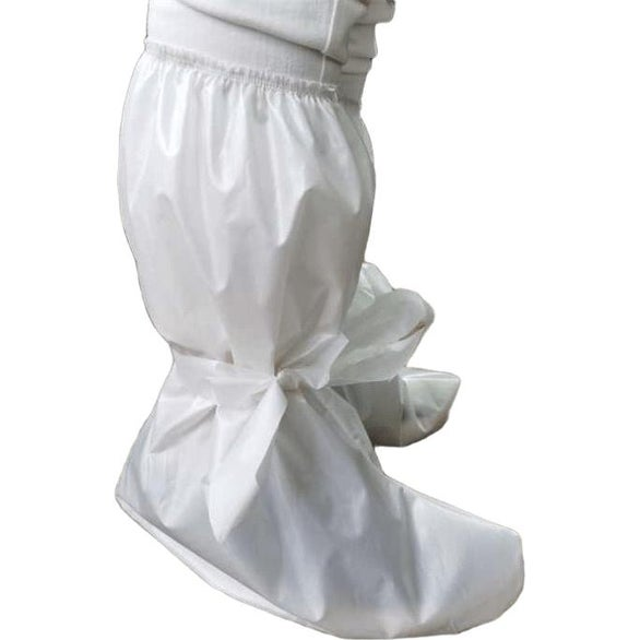 White Stretchable Long Shoe Cover