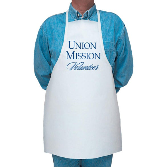 White Low-Cost Disposable Apron