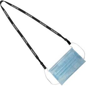 "Polyester Mask Keeper Lanyards (0.5"" x 16"")"