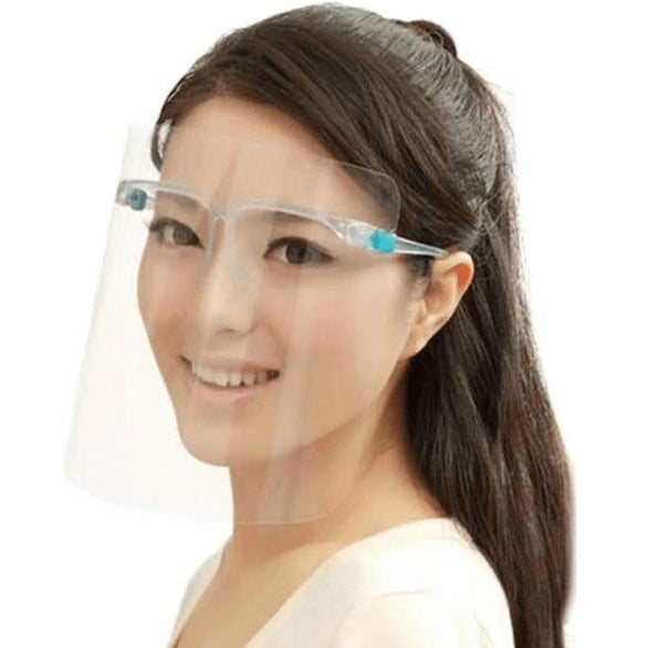 Clear Protective Face Shield With Glasses