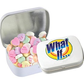Domed Tins with Conversation Hearts