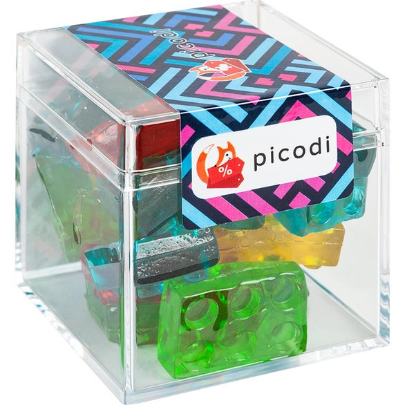 Clear Sweet Boxes with Gummy 3D Blocks