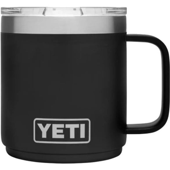 Black YETI Rambler Stackable Mug
