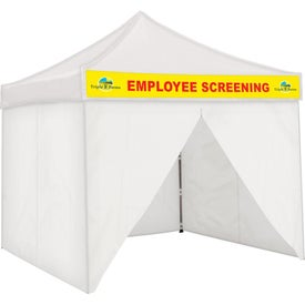 Fully Enclosed Tents with Detachable Graphic