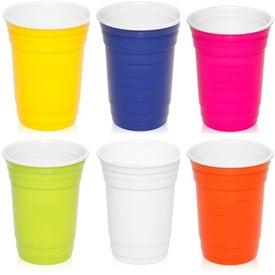 Double Insulated Plastic Gameday Beverage Travel Cups (16 Oz.)