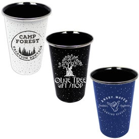 Speckled Enamelware Tumblers (17 Oz., Screen Print)