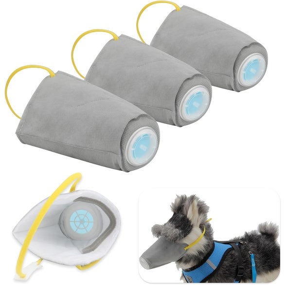 Gray Anti-Pollution Dog Mask