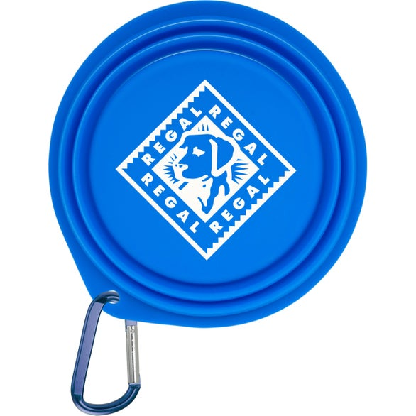 Royal Blue Collapsible Pet Bowl with 2