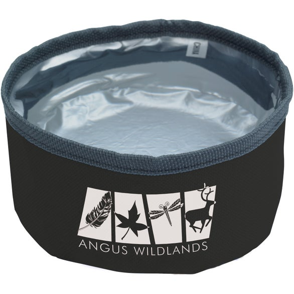Black / Gray Collapsible Pet Bowl