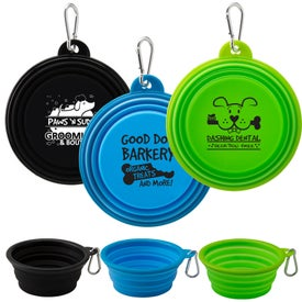 Collapsible Silicone Pet Bowl (10 Oz.)