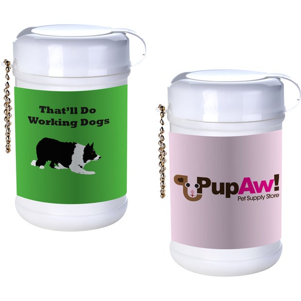 White Pet Paw Canister Wipes