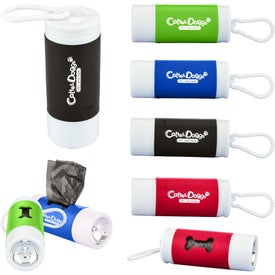 Pet Waste Disposal Bag Dispenser With Flashlight