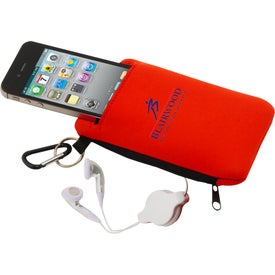 Smartphone Pouch with Earbuds