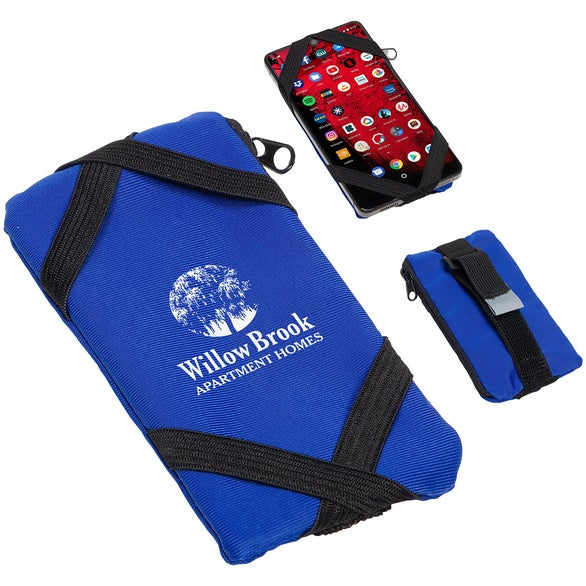 Blue Strap 'N Go Phone Wallet with Belt Strap