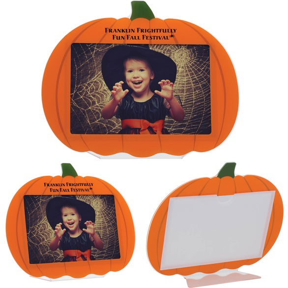Orange Pumpkin Photo Frame