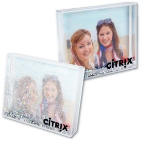 Silver Glitter Acrylic Desktop Photo Frame