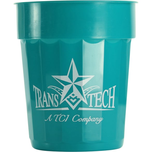 Teal Fluted Stadium Cup