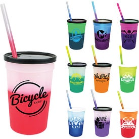 Mood Stadium Cup Straw and Lid Sets (22 Oz.)