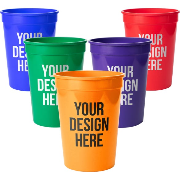 Black Plastic Stadium Cup