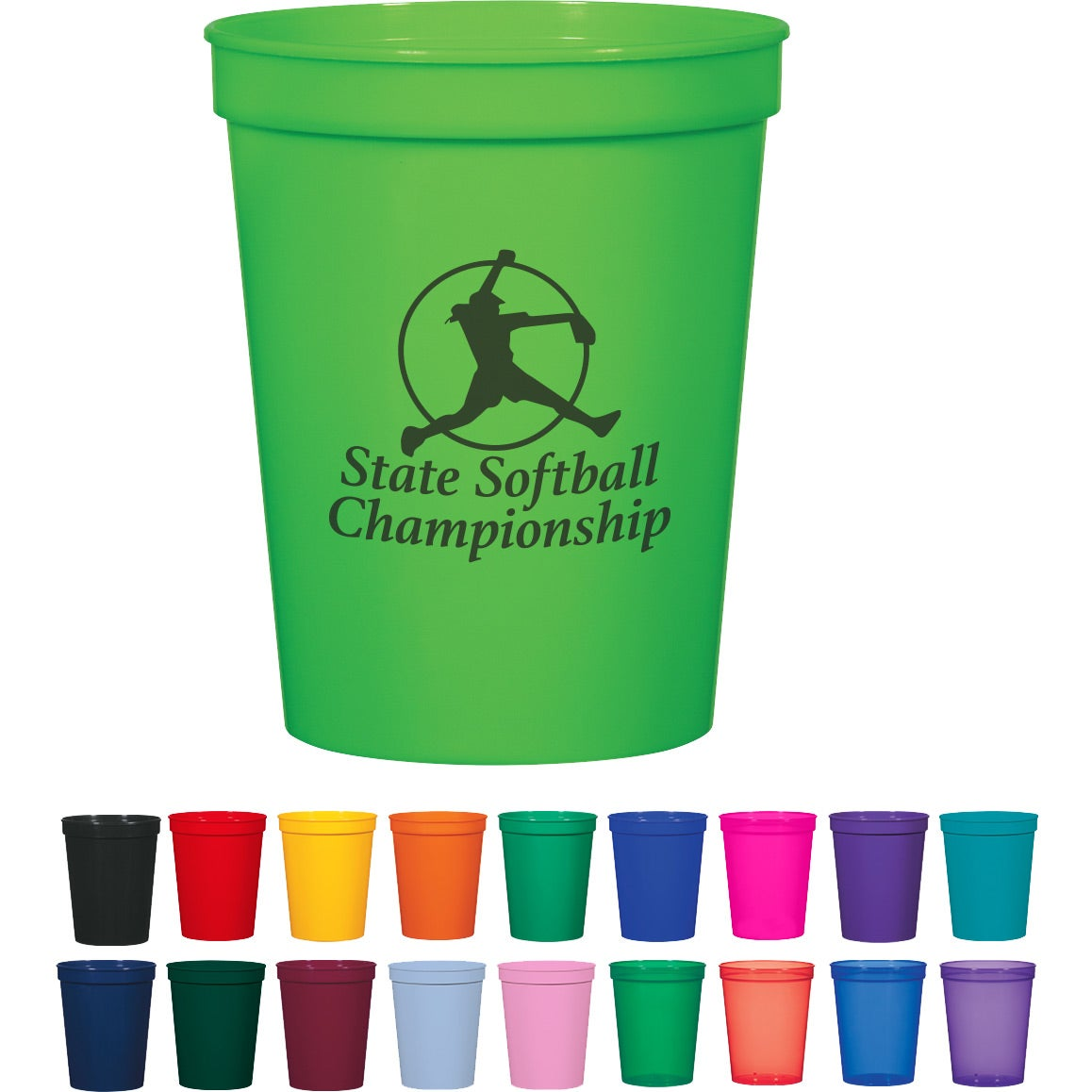 Promotional 16 Oz Colors Stadium Cups With Custom Logo
