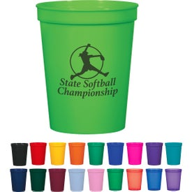 Promotional Stadium Cups (16 Oz.)- Colors