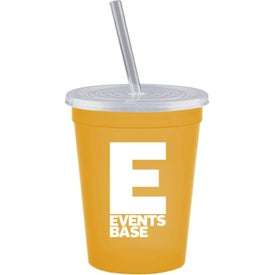 Stadium Cups with Lid and Straw (16 Oz., 4.375