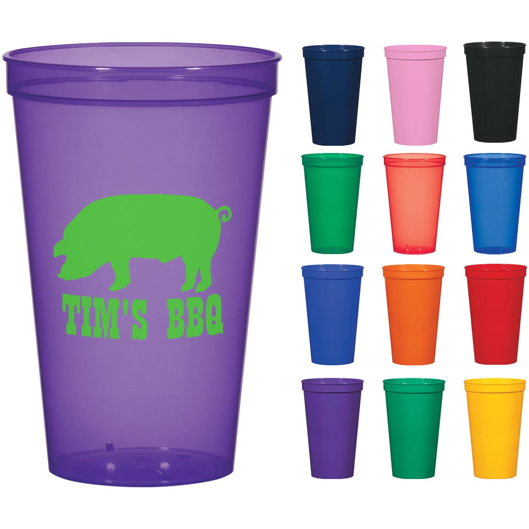 Promotional 22 Oz Colors Stadium Cups With Custom Logo