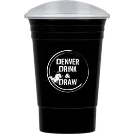 Sturdy Party Cup with Lid (16 Oz.)