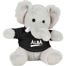 """6"""" Plush Elephant with Shirt"""