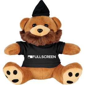 "6"" Plush Hipster Bear with Shirt"